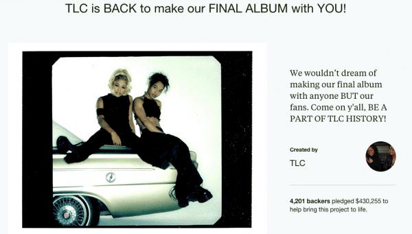TLC在Kickstarter上的募資頁面。